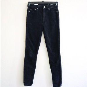 Gap High-rise Black Corduroy Pants